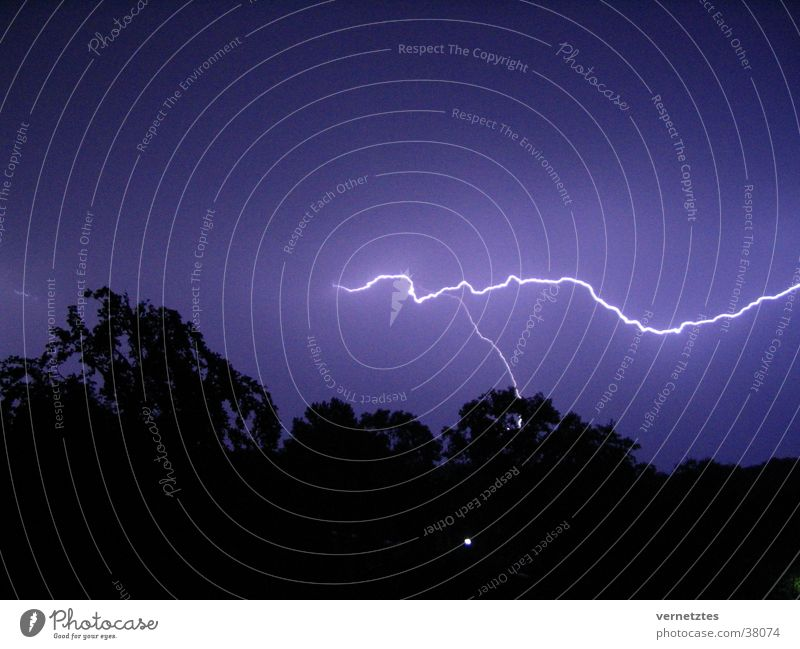 Clouds Dark Gale Lightning  A Royalty Free Stock Photo