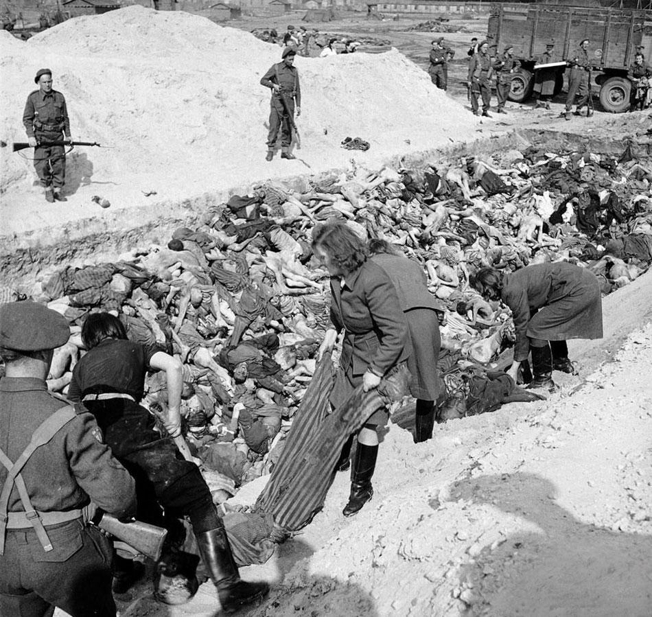 慎入!盟軍解放集中營后納粹被迫運尸體(組圖)-搜狐滾動