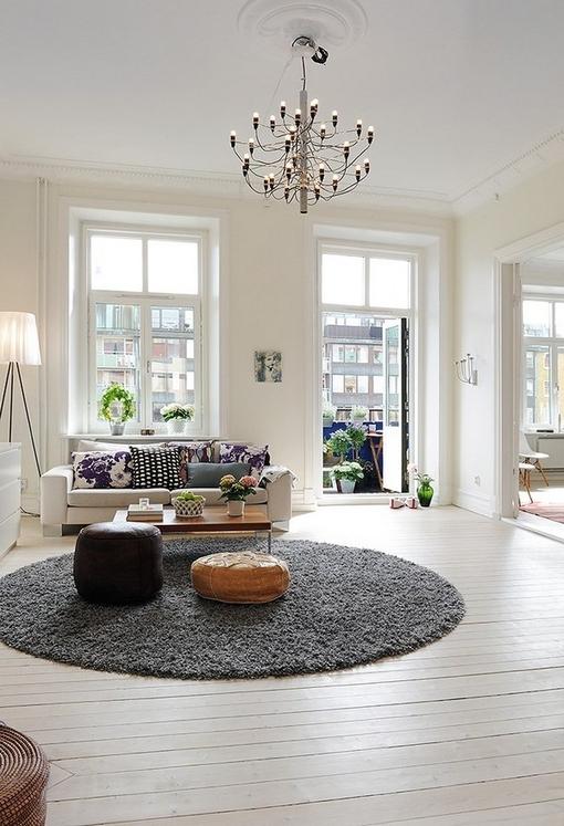 grey kitchen rugs fluorescent lighting ideas 北欧风格装修图片 宅女设计出的85平米白色空间-搜狐滚动