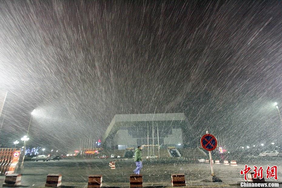 中國中東部地區出現雨雪天氣 太原霧霾散去(組圖)-搜狐滾動