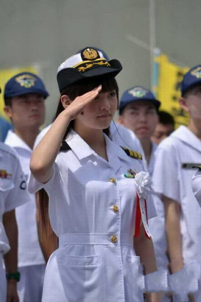 資料圖:日本自衛隊女兵。