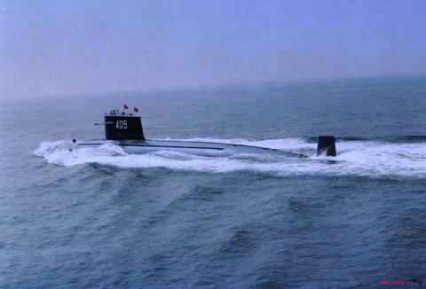 資料圖:漢級攻擊型核潛艇是中國第一代攻擊型核潛艇(SSN),代號091型。