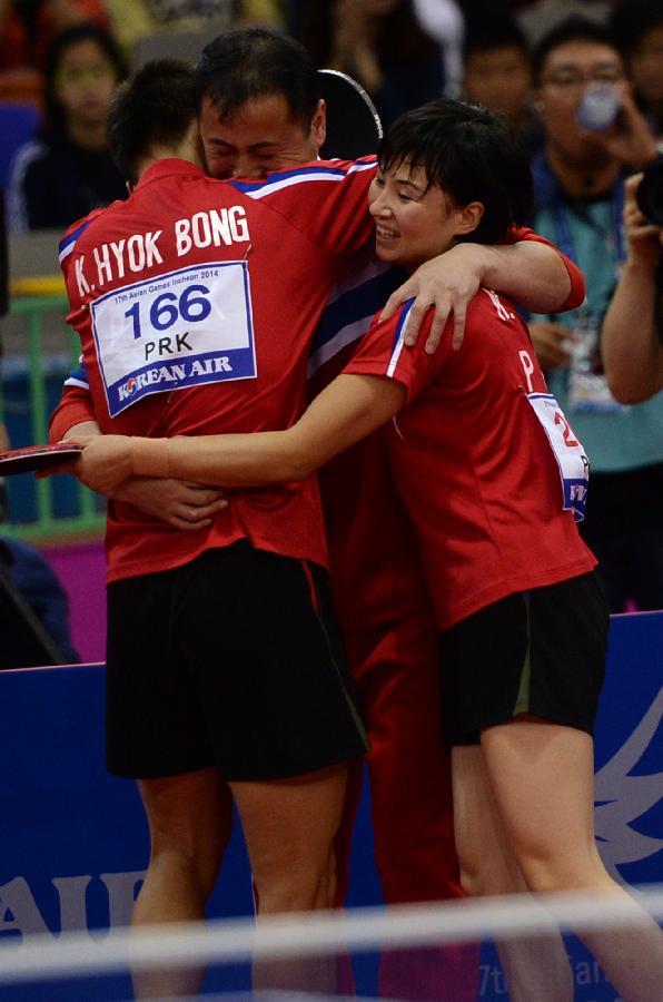 (亞運會)(1)乒乓球——混雙:朝鮮組合奪得冠軍(圖)-搜狐滾動