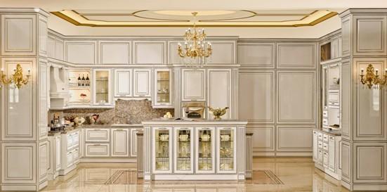 mission kitchen cabinets best island 上海厨卫展新品预览金牌厨柜爱琴海2尽显欧式浪漫 组图 搜狐滚动 经典雅白柜体 彰显优雅奢华