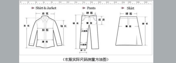 教你如何選擇合適的衣服尺碼?
