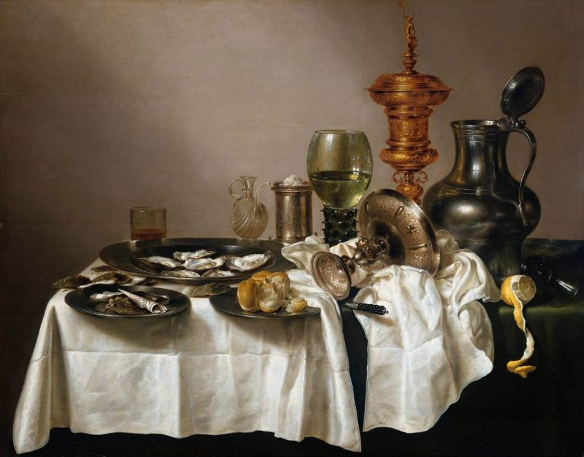 Willem Claesz Heda – Still life with gold plated bowl