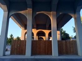 Symmetrical shot under the bridge