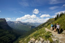 Mid-afternoon in August on the Highline Trail in Glacier National Park, Montana