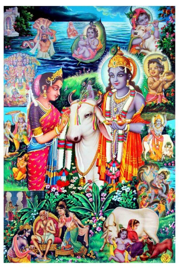 Radha Krishna Leela Hindu Religious Mythology