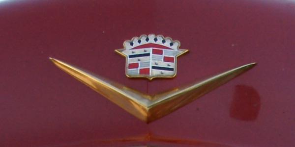 Car hood badge detail