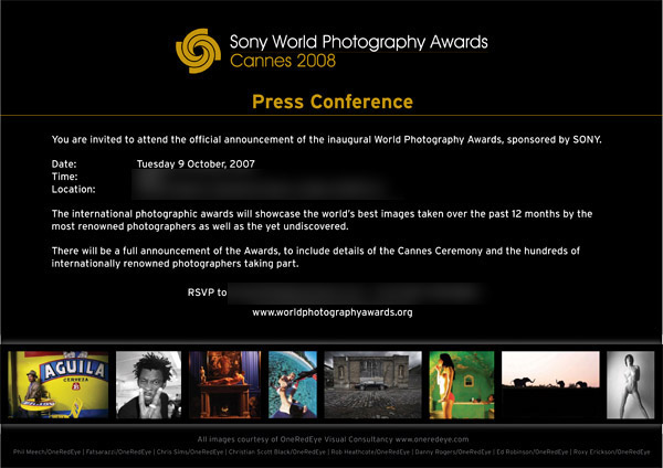 Sony Awards invite