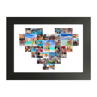 Heart Collage Maker. 20x20 heart photo collage custom wall