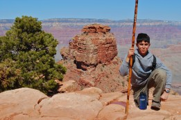 Boy posing in Grand Canyon