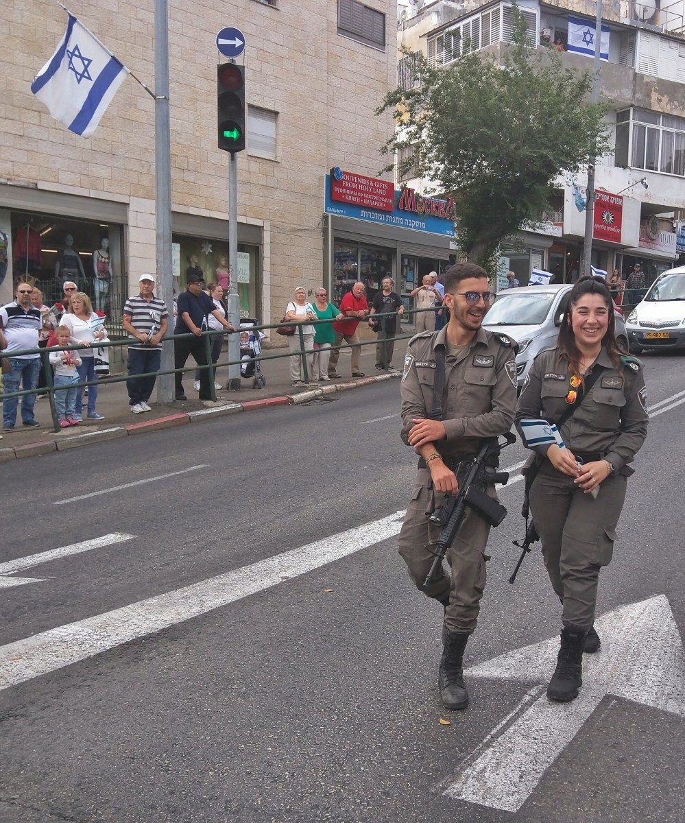 Victory Day Parade in Haifa, Israel