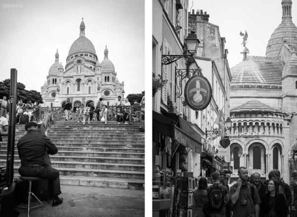 Montmartre Paris Black and White