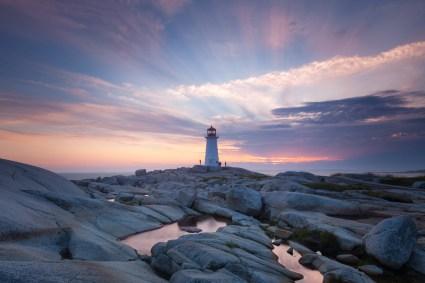 Peggys Cover Nova Scotia Sunset