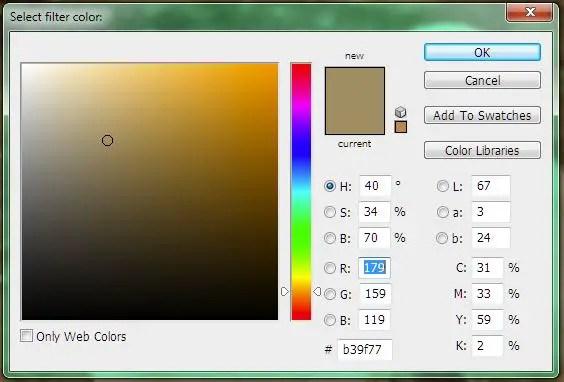 Color Picker Sepia