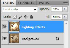 Luminosity Blending Mode Opacity 33%