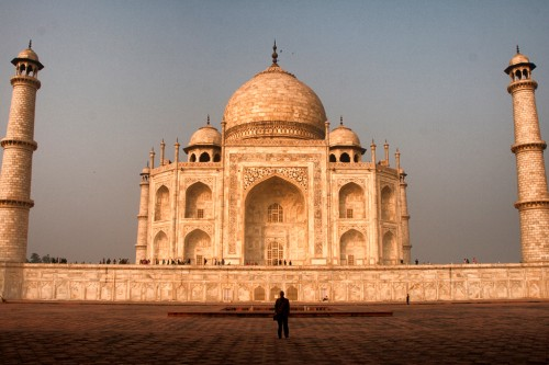 The Taj Majal, one of the most photographed buildings in India.