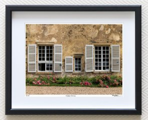 Architectural detail in rural France, limited edition fine art print