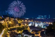 Luxembourg fireworks print