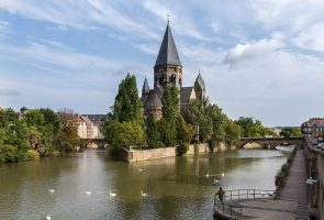 Metz - Moselle river - France