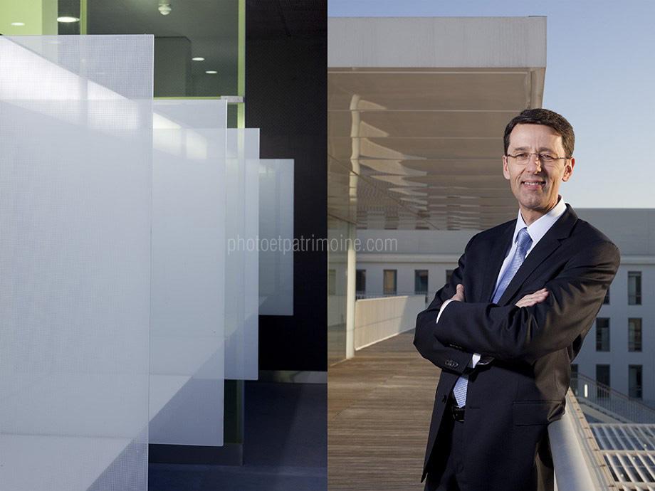 Hôpital de Cannes, Mr Lefebvre, Directeur - l'accueil patients © Michel Bourguet