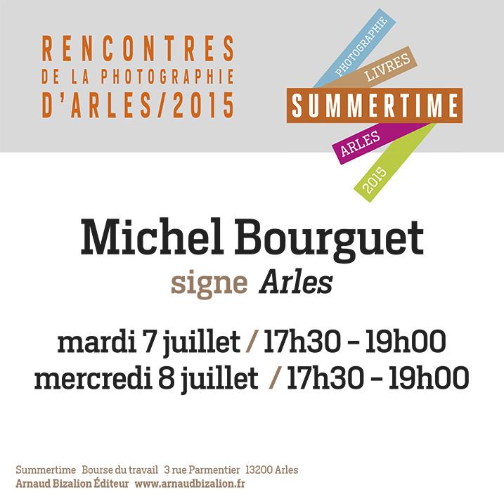 Michel Bourguet signe Arles