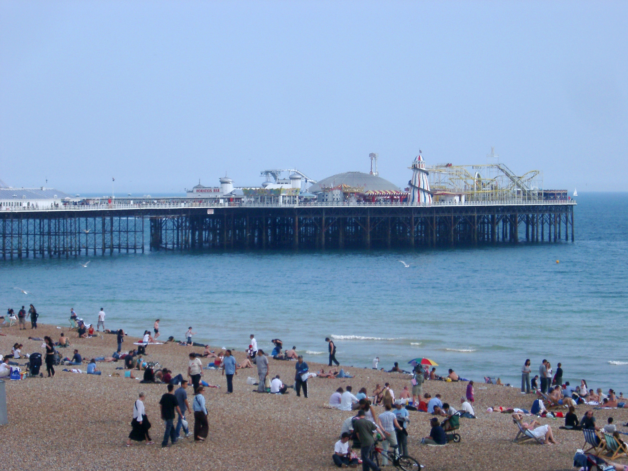 Free Stock Photo Of View From The Beach Of Brighton Pier