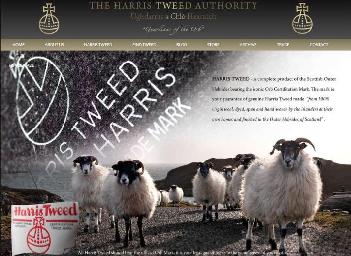harristweedauth website