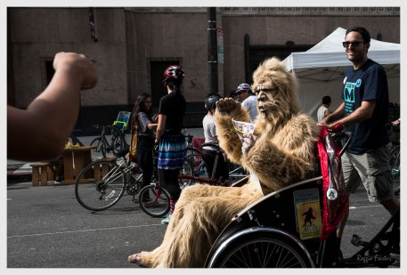 Gabe the Sasquatch at CycLAvia 2016, DTLA, Los Angeles, CA, ©2016 Reginald Foster, All Rights Reserved