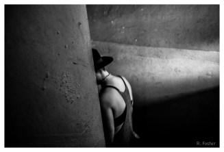 Figure in the Stairwell, Brewery Art Walk, Los Angeles, CA