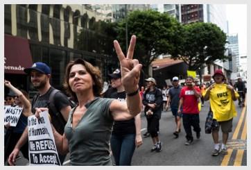 Anti Trump Rally Participant in DTLA