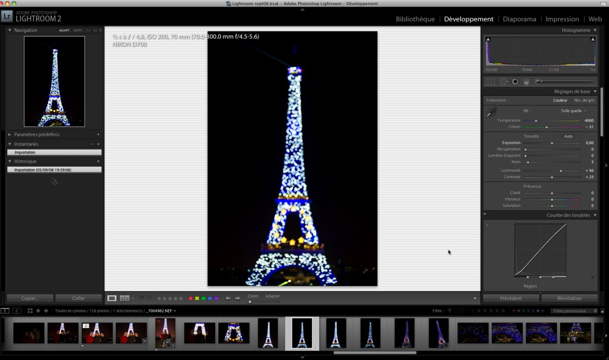 Comment modifier l'interface de Lightroom