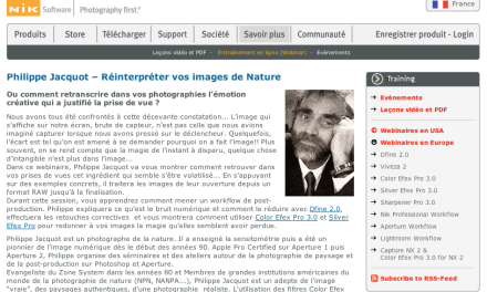 Webinar sur la post-production des photos de nature