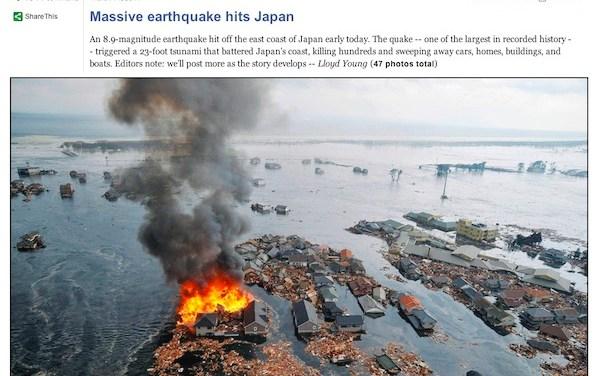 Les catastrophes sont photogéniques