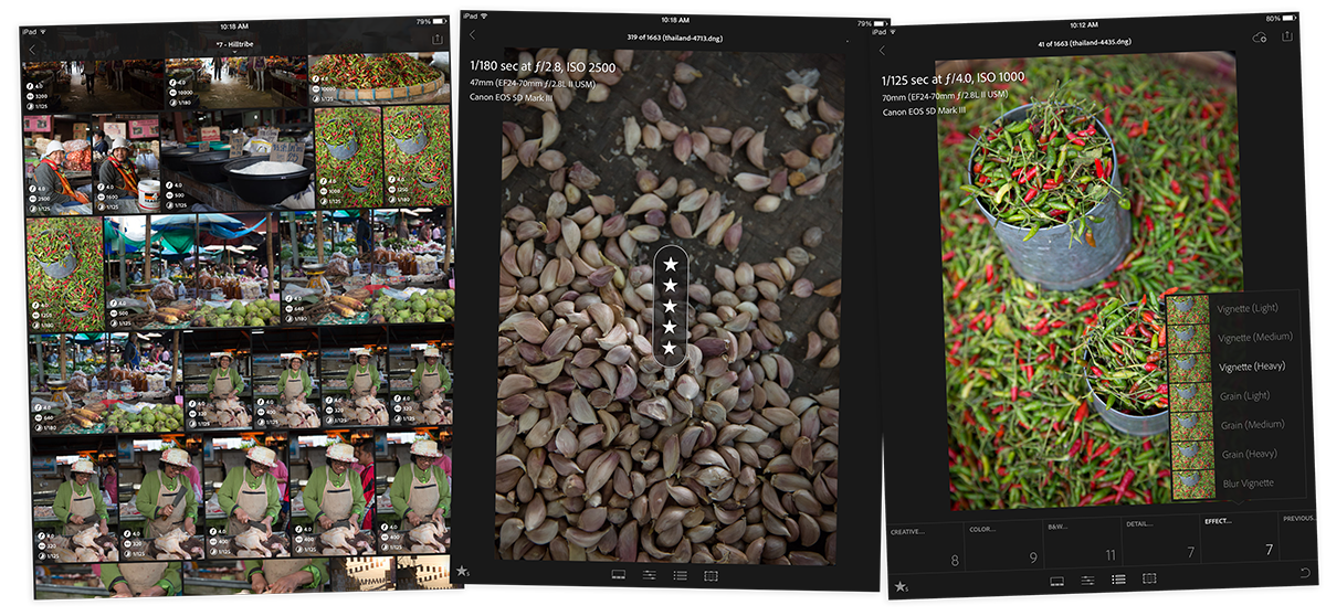 Lightroom Mobile for iPad and iPhone