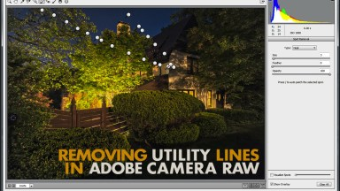 Removing Utility Lines in Adobe Camera Raw