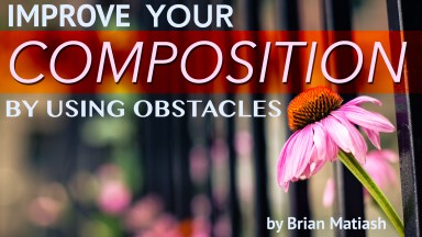Improve your composition by using obstacles