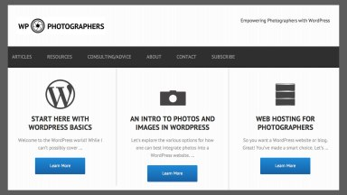 Finally, A WordPress Site for Photographers