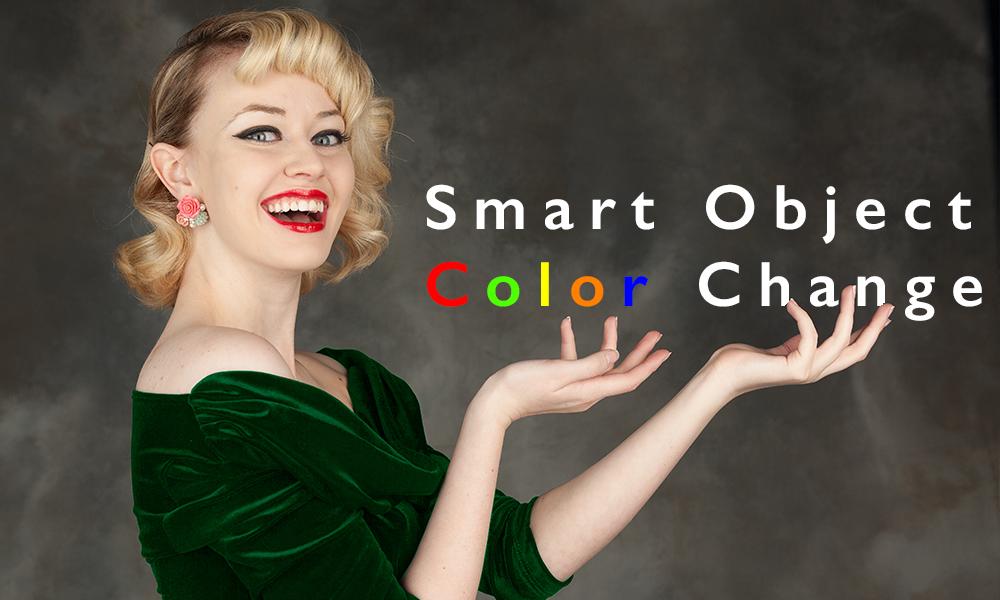Advanced Photoshop Tutorial: Smart Object Color Changes
