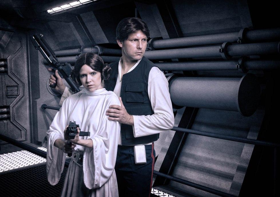 Princess Leia and Hans Inside Ship