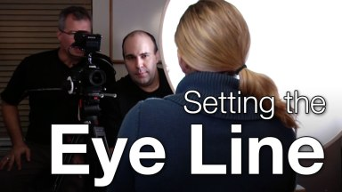 Setting the Eye Line for Composition in a Video Shot