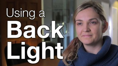 Using a Backlight to Improve Your Subject