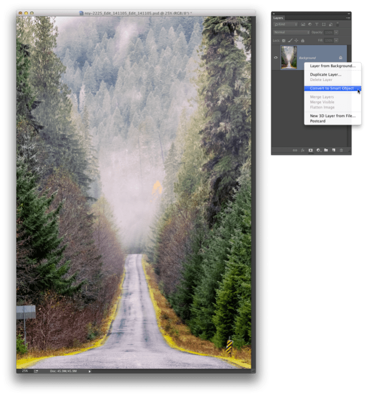 Convert the Layer to a Smart Object