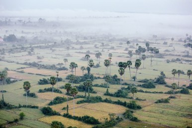 Clouds and fog in Cambodia