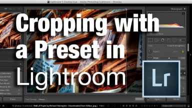 Cropping with a Preset in Lightroom