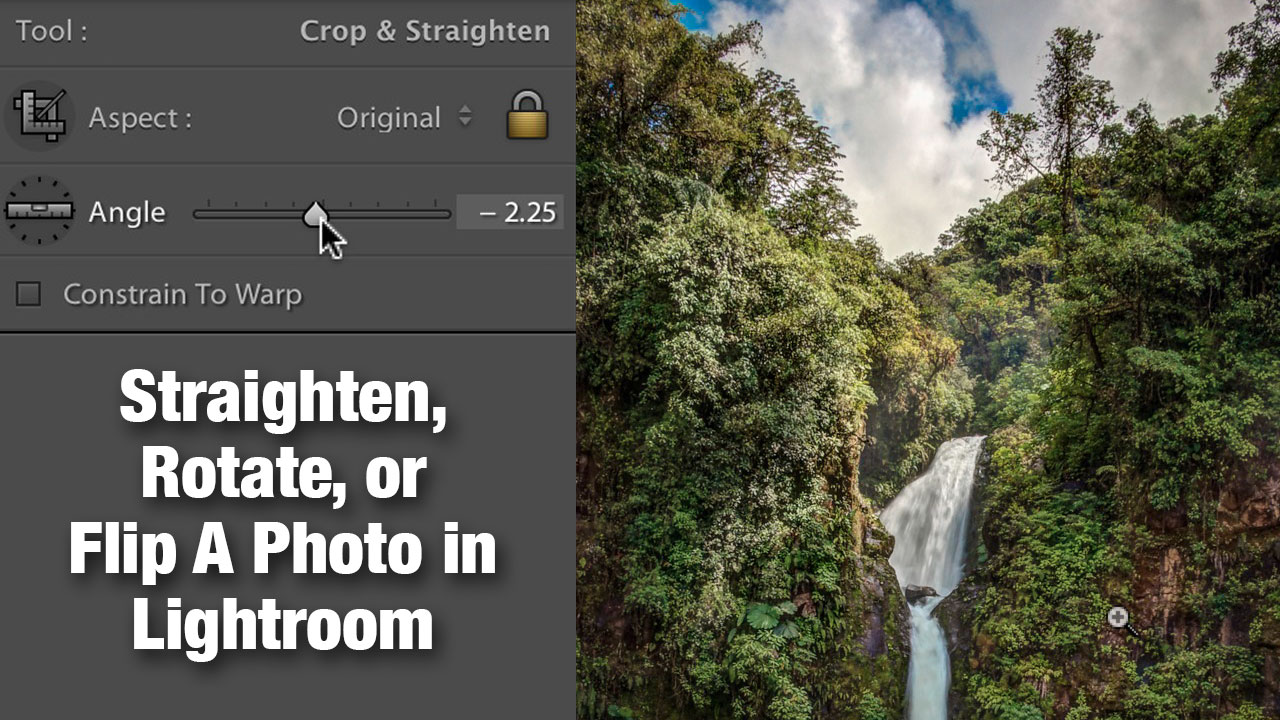 Straighten, rotate or flip a photo in Lightroom | Photofocus