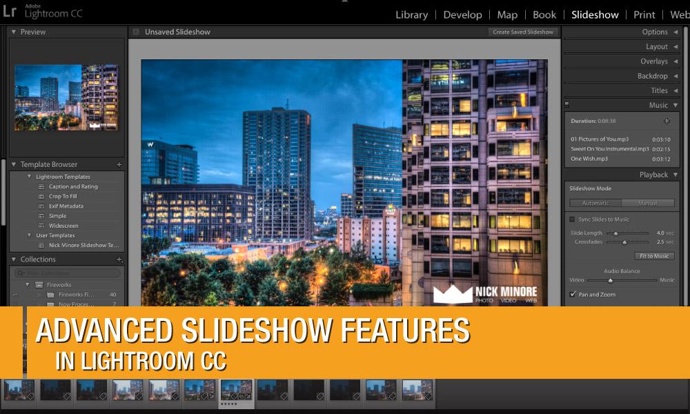 Advanced Slideshow Features in Lightroom CC | Photofocus