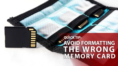 A Quick tip to avoid formatting the wrong memory card